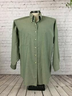 Dockers Men's Wrinkle Free Button Down LS Dress Shirt, Green