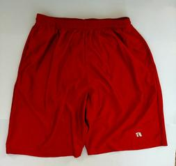 Russell Athletic - Men's XL Orange Mesh Shorts w/pockets