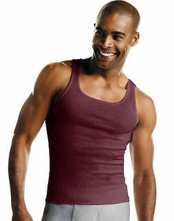 Hanes Men TAGLESS A-Shirt 4 Pack Undershirt Ribbed FreshIQ A