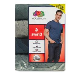 Fruit of the Loom Mens 4 Pack ASSORTED  Crew-Neck T-Shirts,