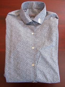 mens van heusen 4-way stretch dress shirt L 16-16.5 x 34/35