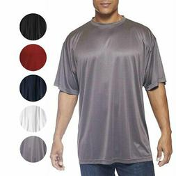 Champion Mens Big and Tall Powertrain Solid T-Shirt 100% Pol