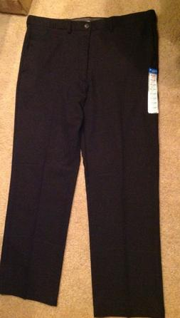 Mens Haggar Classic Black Dress Pants 40 W 32 L Cool Straigh