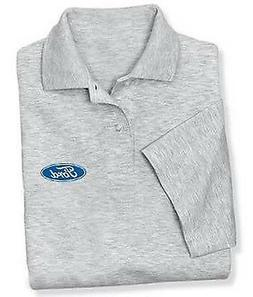 Mens gray Ford polo shirt gray collared shirt buttons dress