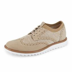 Dockers Mens Hawking Knit/Leather Dress Casual Wingtip Oxfor