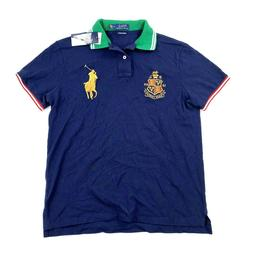 Polo Ralph Lauren Mens Medium Polo Shirt Custom Slim Fit Big