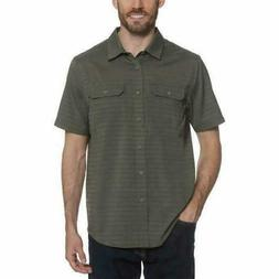 Gerry Mens Shirt Short Sleeve Woven Wrinkle-Resistant Quick-