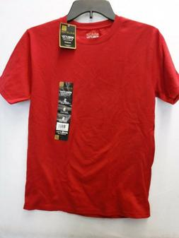 MENS SIZE SMALL GOLD TOE RED MOBILITY STRETCH SHORT SLEEVE T