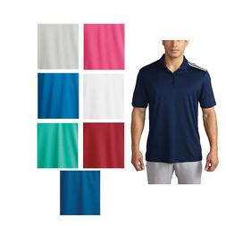 New 2016 Adidas Golf ClimaCool 3-Stripes Polo Shirt - Pick S