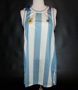 New $90 Adidas ARGENTINA Soccer Jersey Dress #10 Women's MED