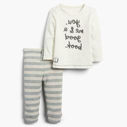 NEW Gymboree Baby Ivory You Me & A Good Book Short Sleeve T-