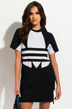 New FR7174 ADIDAS Women's Originals BIG LOGO TEE Dress GENUI