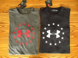 New Under Armour Freedom T-Shirt Black Gray Tactical 1300403