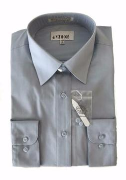 new men s point collar poly cotton