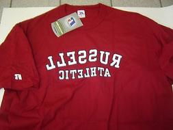 NEW MENS RUSSELL ATHLETIC BURGANDY S/S TSHIRT SIZE XL