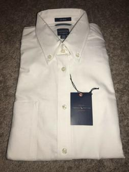 New Men's Dockers White Dress Shirt Size Medium 15 - 15 1/
