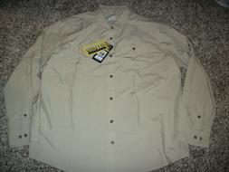 UNDER ARMOUR New NWT Mens Dress Shirt Button Up Hydro Khaki