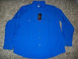 UNDER ARMOUR New NWT Mens Dress Shirt Button Up Hydro Blue L