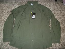 UNDER ARMOUR New NWT Mens Dress Shirt Button Up Hydro Green