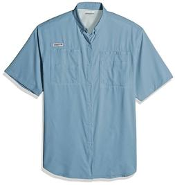 New Columbia PFG Mens Tamiami II  Short Sleeve Fishing Butto