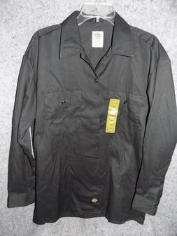 NWOT DICKIES FLEX BLACK BUTTON UP LONG SLEEVE SHIRT MEN'S SZ