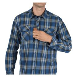 NWT 5.11 Men's Flannel Long Sleeve Shirt Concealed Carry Sna