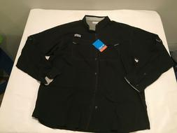 NWT $55.00 Columbia PFG Mens Low Drag Offshore Fishing Butto