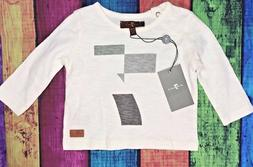NWT 7 for All Mankind Baby Boys 0-3 Months Ivory Geometric S