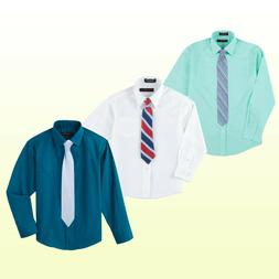 NWT Dockers Boys  Dress Shirt And Coordinating Tie Set New