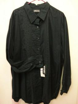 NWT AXIST MEN'S black Long Sleeve shirt 2XLT  tall button do