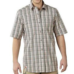 NWT~ MEN'S CARHARTT FORCE MANDAN PLAID WORK/ CASUAL DRESS SH