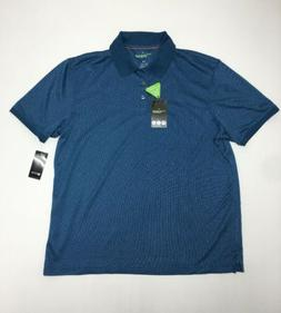 NWT MEN'S HAGGAR IN MOTION EASY CARE QUICK DRY POLO SHIRT si