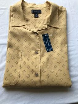 NWT DOCKERS Men's Short Sleeves Silk Cotton Button Down Shir
