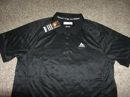 NWT NEW Black Adidas Climalite Short Sleeve Dress Lounge Pol