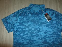 NWT NEW Under Armour Golf Blue Short Sleeve Camo Dress Heat