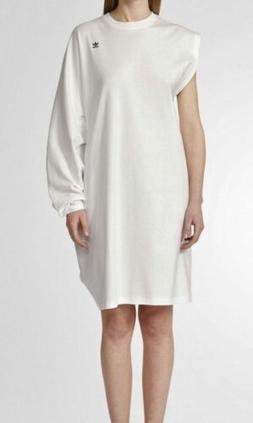 ADIDAS ORIGINALS Hyke White Asymmetric Big Tee Shirt Dress N
