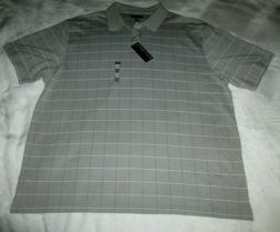 Van Heusen Polo Golf Shirt Men's Size XXL Gray SS Cotton Ble