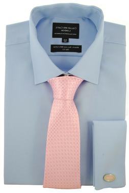 COLLAR AND CUFFS LONDON - SHIRT & TIE SET - NON-IRON 100% Co