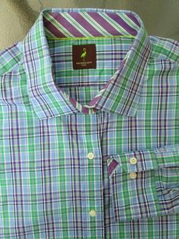 TAYLORBYRD SHIRT Men's 3XLT Tall 19 x 39, Purple Blue Green