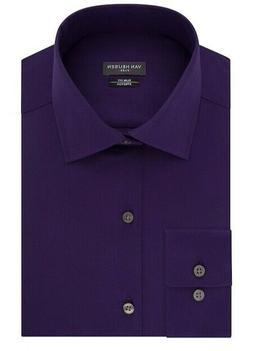 Van Heusen Slim Fit Dress Shirt Deep Purple Men's Size X-Lar