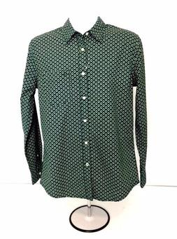 Dockers Slim Fit Men's Green Button Front Long Sleeve Dress