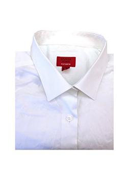 Alfani Mens Slim Fit Stretch Dress Shirt L 16-16.5 34/35 Whi