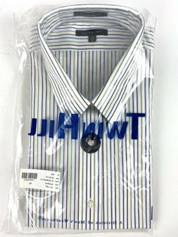 Twin Hill Striped Dress Shirt Men's 2XL 36/37 TALL White Lon
