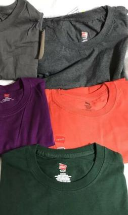 hanes t shirt  5 Pack + 1 extra Multi Color Tagless Cotton
