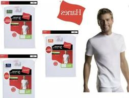 Hanes Tag Less Crew Neck T-Shirts 3-Pack Mens 100% Cotton  W