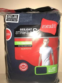 Hanes Tag Less Crew Neck T-Shirts 6-Pack Mens 100% Cotton Bl