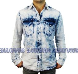 Affliction Take A Swing 110WV460 New Long Sleeve Denim Butto