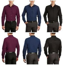 Kenneth Cole Unlisted Mens Slim Fit Long Sleeve Solid Spread