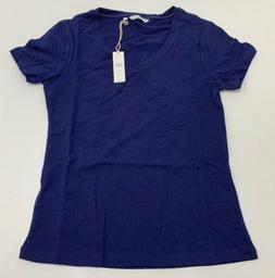 Dockers V-neck T-shirt Womens XS Blue NEW 6KJ103SM NEW XS