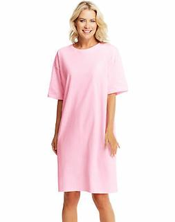 Hanes Wear Around Women's Oversized One-size T-Shirt Dress S